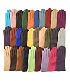 Fratelli Orsini Everyday Women's Italian Cashmere Lined Leather Gloves Size 8 Color Black (Apparel)