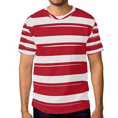 MONTOJ - Camiseta de Manga Corta para Hombre, diseño de Corona de Marihuana, Secado rápido