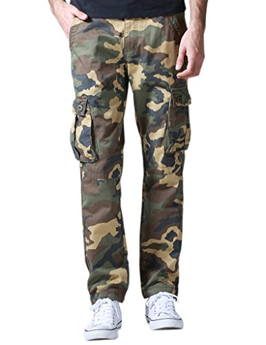 Match Pantalones Cargo Casual Múltiples Bolsillos para Hombre #6531