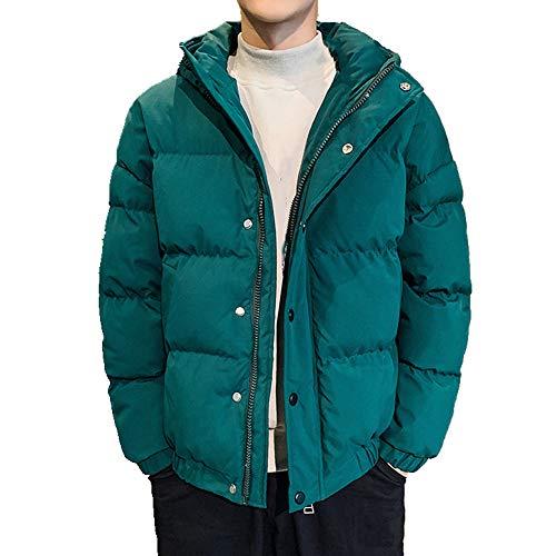 Los hombres de invierno pan abrigo de plumón de algodón chaqueta corta gruesa acolchada abrigo abrigo de algodón abrigo acolchado chaqueta con capucha