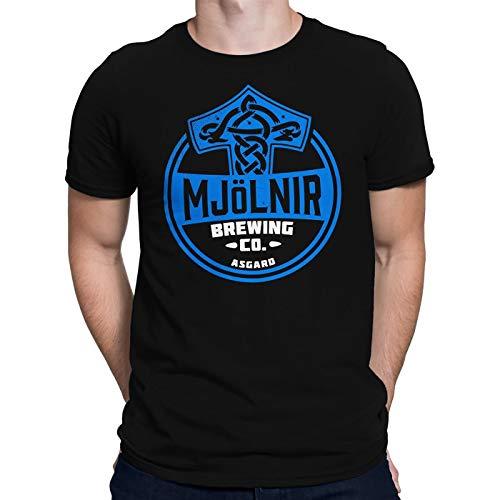 Camiseta masculina Mjolnir Brewing Company, Preto, M