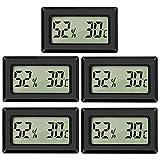 Thlevel Mini Termómetro Higrómetro Digital Interior de Temperatura y Humedad...