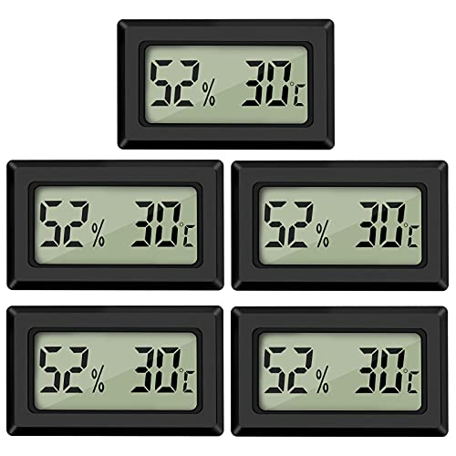 Thlevel 5PCS Mini LCD Digitale Termometro Igrometro Temperatura Umidità Misuratore