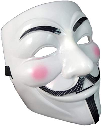 VENTURA TRADING Maschera anonima V per Vendetta Guy Fawkes Maschera Teschio Maschera Viso Maschera da Ballo Maschera Veneziana