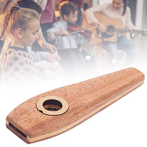 Wood Kazoo, hermosa flauta de madera generosa Kazoo útil con diseño humanizado para entusiastas de la música para clubes de música para principiantes para actuaciones al aire libre