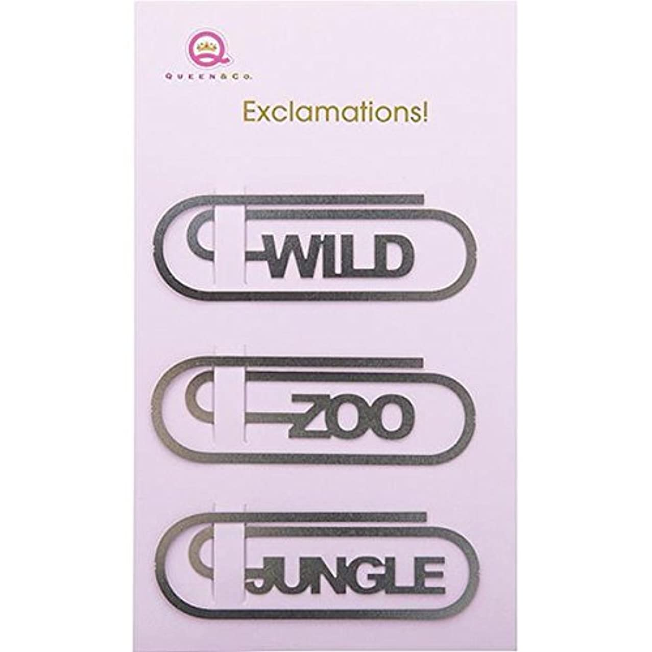 Queen & Co Metal Exclamations! Clips, 2 by 0.75-Inch, Zoo