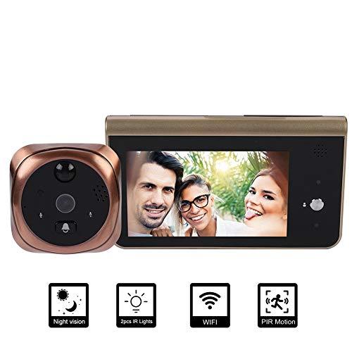 Tosuny digitale kijkgaatje camera, WiFi kijkgaatje kijker met 4,3 inch high-definition groot scherm, APP controle voor iOS en Android, ondersteunt PIR bewegingsdetectie alarm