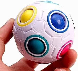 NUTY DUSTY Fidget Toys Adult Kid Ball Magic Cube Toy Plastic Creative Rainbow Football Puzzle Children Learning Educational Fidget Toys Nsv775