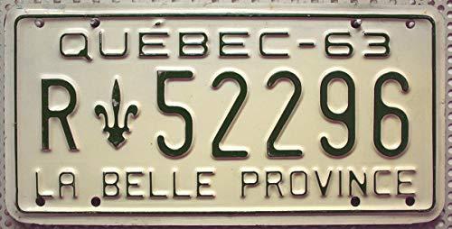 KANADA_Auswahl_von_Fahrzeugschildern : Quebec Nummernschild ~ Canada License Plate ~ Kennzeichen