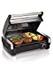 Hamilton Beach 25360 Indoor Searing Grill with Removable Easy-to-Clean Nonstick Plate, Extra-Large Drip Tray, Stainless Steel (Renewed)