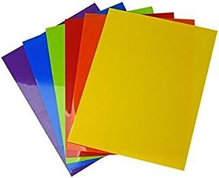 Vaessen Creative AR3-902 Lot de 6 Feuilles Plastique Multicolore 10,5 x 14,8 x 0,3 cm
