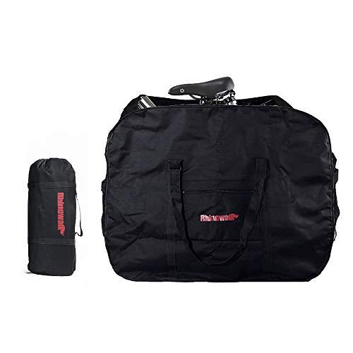 折りたたみ自転車 収納 バッグ 輪行バッグ 16〜20インチ対応 専用ケース付き 輪行袋 サイクリング ツーリング 持ち運び 便利(ブラック)