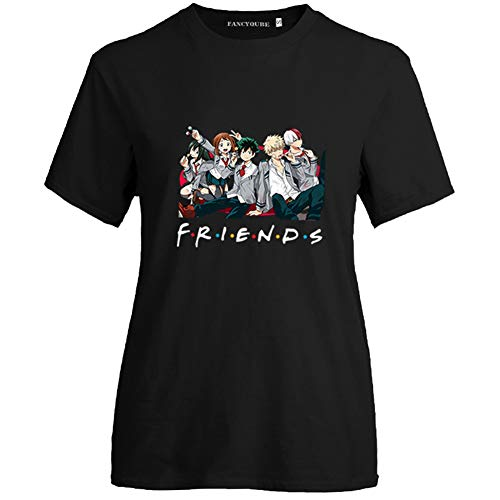 Peoria My Hero Academia T-Shirt, Japanese Anime Short-Sleeve Crewneck T-Shirts for Girls and Women(S Style 16)
