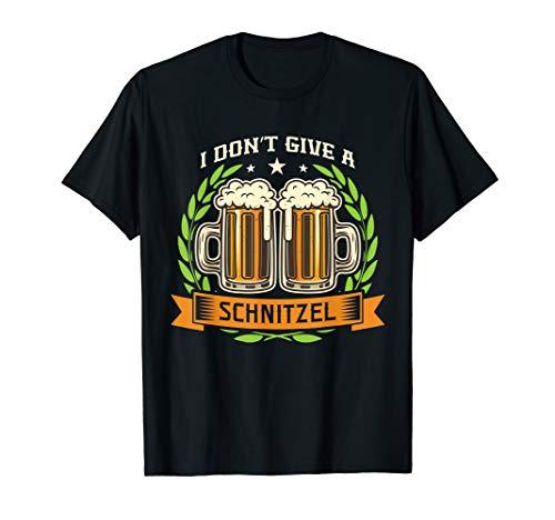 Deutsches lustiges Geschenk des Bier-Schnitzels T-Shirt