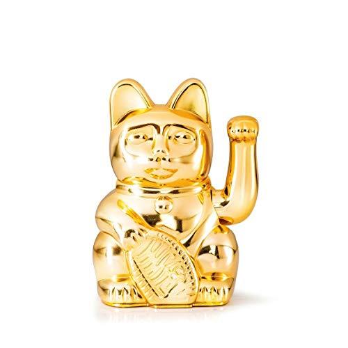 DONKEY Products | Lucky Cat Winkekatze | Japanische Deko-Katze | Verschiedene Designs & Farben, Farbe:Gold