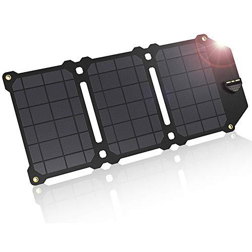 Braveking1 21W Solarpanel Tragbares Wasserdicht Faltbar Solar Ladegerät mit 2-USB-Port(5V/2.4A) für Camping Wandern Solar Powerbank Outdoor für iPhone, Android, Handy, Tablets, Kamera, Smartphone