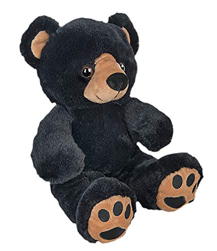 Recordable 16' Plush Benjamin the Black Bear w/20 Second Digital Recorder for Special Messages, Rymes or Songs