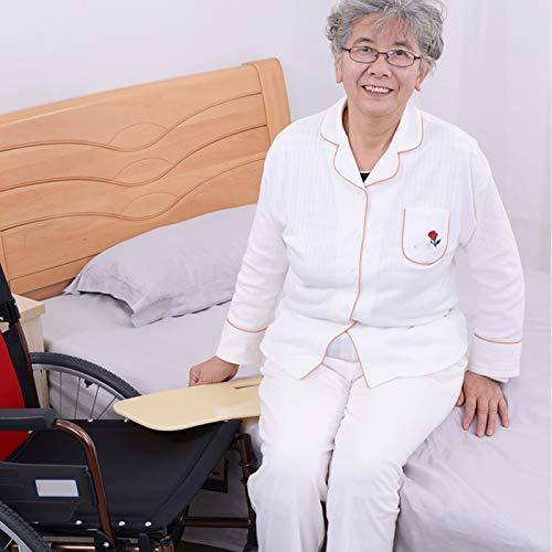 N \ A Rollstuhl-Transferbrett - Gebogenes Transferbrett Für Rollstuhlfahrer - Gleitbrett Mit Griffen - Für Bett, Rollstuhl, Stuhl Oder Kommode