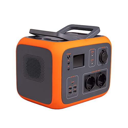 Kirron Powerstation AC50 I Tragbarer Akku Generator 500 Wh/300 W I 230 V Powerbank Steckdose I Notstromaggregat mit AC DC USB Anschlüssen und LED Taschenlampe I Stromspeicher Camping & mehr