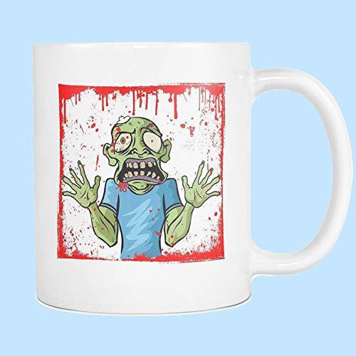 DKISEE Zombie Walking Dead - Taza de café Zombie, Apocalipsis Zombie, Taza distópica, Regalo para amigos, BFF regalo, Taza de Halloween 11 oz
