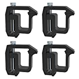 Y-autopart Mounting Clamps Truck Caps Camper Shell Powder-Coated fit Chevy Silverado Sierra 1500 2500 3500,Dodge Dakota Ram 1500 2500 3500,Ford F150 F250,NISSAN Titan,Toyota Tundra Set of 4 (black)