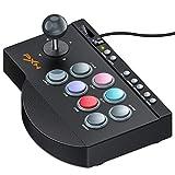 ご注意:販売元SHOP HDCは偽者販売してます。PS4/Nintendo switchに適用アーケードコントローラー TURBO機能付きパンドラボックスfor PS3/PC/XBOX ONE MACRO機能付きファイティング スティック 有線接続ブラックアーケードスティック