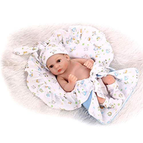 LMZJLU Reborn-Baby-Puppen 10 Zoll Jungen Und Mädchen-Zwillinge, Schlafen Neugeborene Ganzkörper-Silikon-Neugeborene Baby-Reborn-Puppen Bathe Partner Naturgetreue Spielzeug