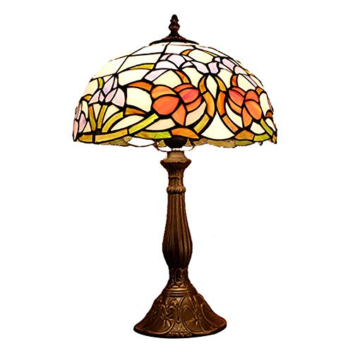 SDHouse Smart lamp Lamp Tiffany Style Table Lamp Rural Bedroom Bedside Lamp American Study Room Decoration Hotel Retro Table Light 30 * 50cm