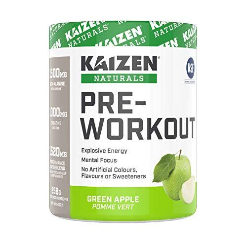 Kaizen Naturals Pre-Workout, Green Apple, 258 g
