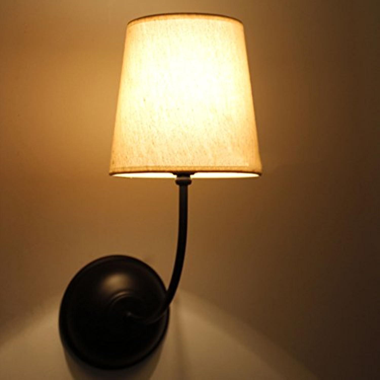 GYP Retro Schlafzimmer Nachttisch Lampe Wohnzimmer Stoff Deckel Wand Lampe, Loft Tuch 16  41CM einzigen Kopf E27 Balkon Bar Studie Cafe Korridor Gang Lichter ( gre   1641CM )