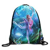 JHUIK Drawstring Bag Backpack,Elf World Dancers Mochila con cordón Unisex Mochila Deportiva de Viaje