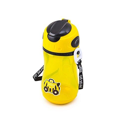 Trunki Bottiglia d'acqua per bambini con paglia e tracolla - Bernard, l'ape (Giallo)