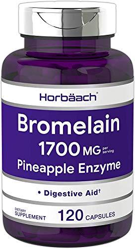 Bromelina | Horbaach | Suplemento de Enzima de Piña | Sin OGM, sin Gluten | 1700 mg | 120 Cápsulas