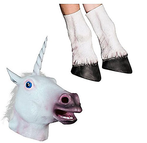 Miyaya Horse Mask, Unicorn Mask Collection (Unicorn Mask and Hooves)