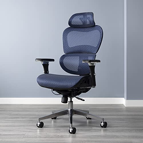 OFM 540 Ergo Office Chair featuring Mesh Back and Seat with Optional Headrest, Blue