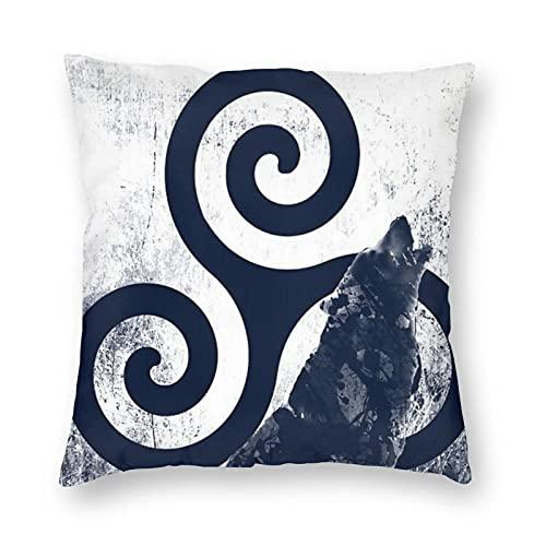 Teen Wolf 3 TV Series Scott McCall Merchandise - Juego de funda de almohada para sala de estar, con impresión 3D cuadrada impermeable, 50,8 x 50,8 cm