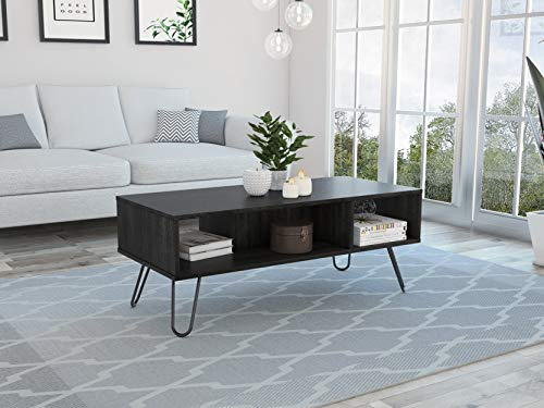 Tuhome Furniture Vassel Rectangular Coffee Table in Weathered Oak