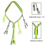Dingjiang Duck Call Lanyard Made of 550 Paracord with 12 Adjustable Loops for Duck Hunting Waders