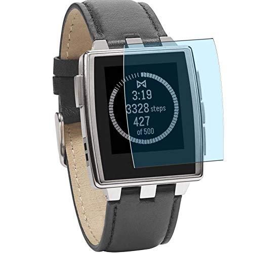 Vaxson 3 Stück Anti Blaulicht Schutzfolie, kompatibel mit Pebble Steel Smartwatch Hybrid Watch, Bildschirmschutzfolie TPU Folie Displayschutz [nicht Panzerglas Hülle Hülle ]