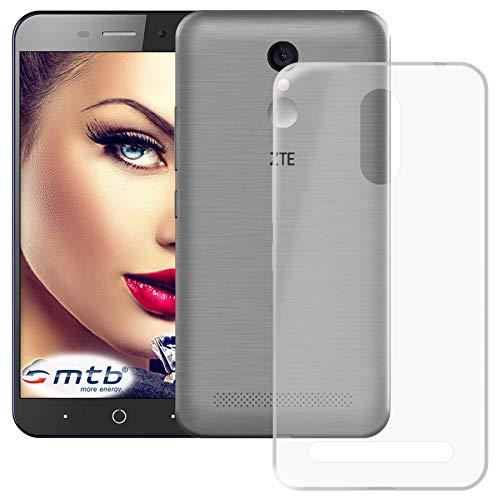 mtb more energy® Schutz-Hülle Clear und Slim für ZTE Blade A602 (5.5'') - transparent - flexibel - TPU Silikon Hülle Cover Tasche