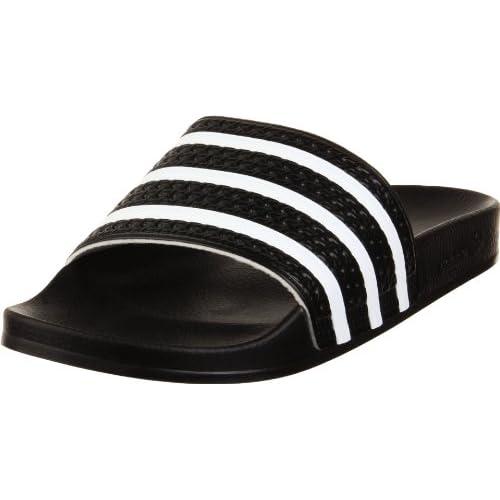 adidas ADILETTE, Ciabatte Unisex – Adulto, Core black/white/core black, 47 1/3 EU