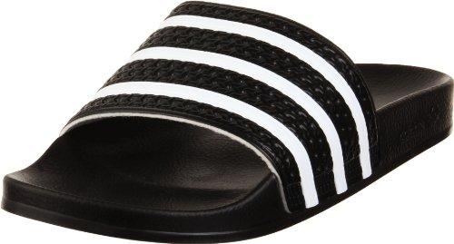 """Adidas Originals """"Adilette 280647"""" Unisex-Sandale für Erwachsene, Schwarz - Schwarz/Weiß/Schwarz - Größe: 44 2/3 EU"""