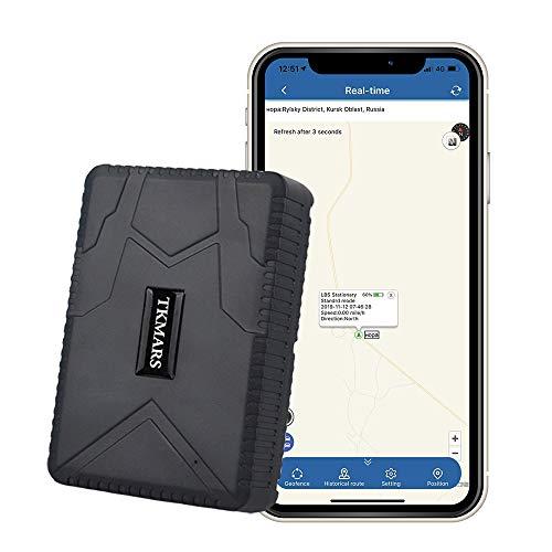 Localizador GPS para Coche ,120 Días de Tiempo de Espera Prolongado Impermeable GPS Tracker de Imán Fuerte para Camiones de Motocicleta TK915