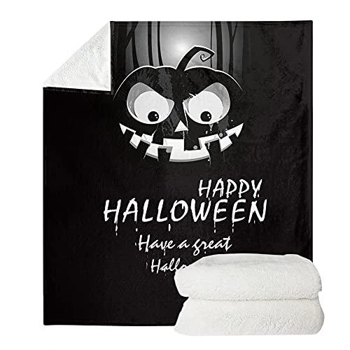 UOIMAG Happy Halloween - Mantas de forro polar para hombre y mujer, ligeras y suaves (70 x 100 cm)