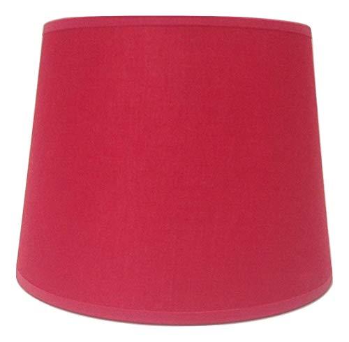 Abat-jour en tissu de coton rouge empire, 20,3 cm