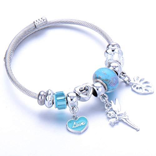 Pulseras Brazalete Joyería Mujer Charm Bracelet Crystal Bead Acero Inoxidable Apertura Ajustable Brazalete Pulsera Joyería Señora Jewelry-37