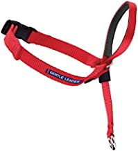 PetSafe Gentle Leader Head Collar with Training DVD, LARGE 60-130 LBS., RED