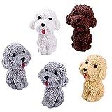 5pcs Del Fumetto Cute Dog Eraser Di Gomma Art School Supplies Di Correzione Della Cancelleria Dell'ufficio Della Novità Matita (colore Casuale)