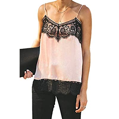 Amazon - Save 50%: Womens Summer Lace Patchwork Tank Tops Casual Loose Adjustable S…