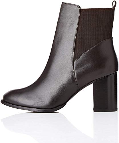 find. High Heeled Leather Chelsea Boots, Braun Brown), 36 EU